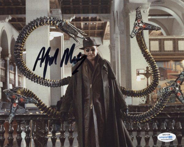 Alfred Molina Spiderman Signed Autograph 8x10 Photo ACOA #4