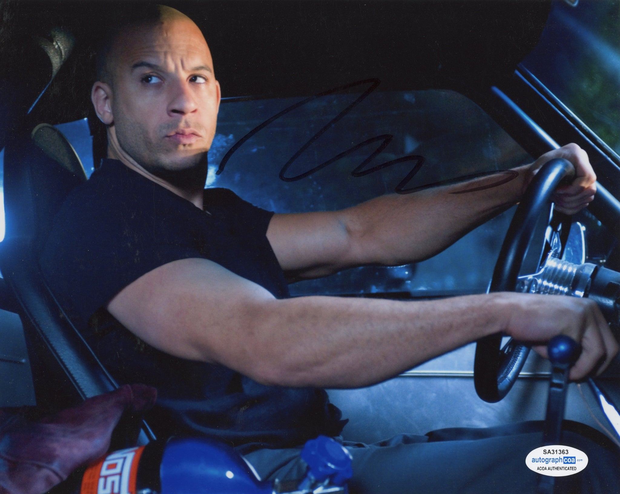 Vin Diesel Fast and Furious Signed Autograph 8x10 Photo ACOA - Outlaw Hobbies Authentic Autographs