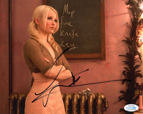 Emily Browning Sucker Punch Signed Autograph 8x10 Photo ACOA #6