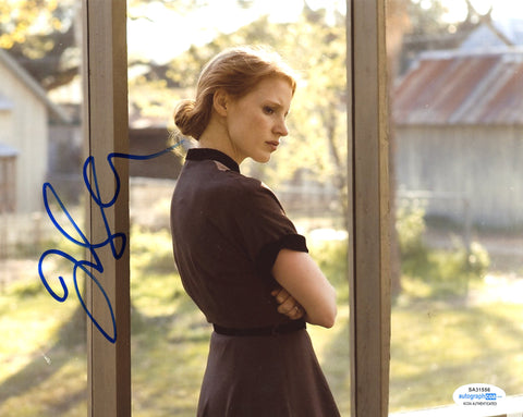 Jessica Chastain Sexy Signed Autograph 8x10 Photo ACOA #24