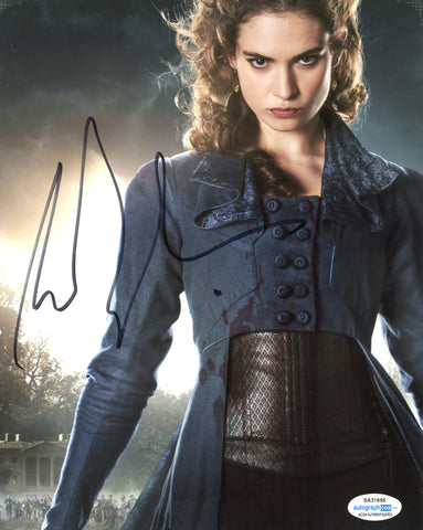 Lily James Pride Prejudice Zombies Signed Autograph 8x10 Photo ACOA #17 - Outlaw Hobbies Authentic Autographs