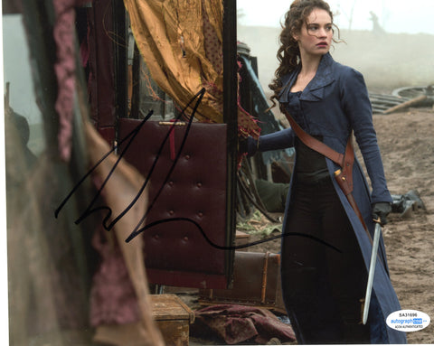 Lily James Pride Prejudice Zombies Signed Autograph 8x10 Photo ACOA #18 - Outlaw Hobbies Authentic Autographs
