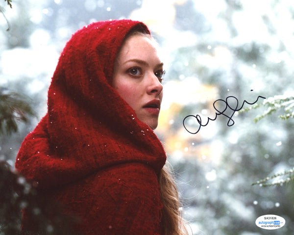 Amanda Seyfried Red Riding Hood Signed Autograph 8x10 Photo ACOA