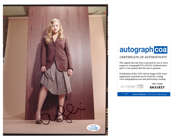 Amanda Seyfried Sexy Signed Autograph 8x10 Photo ACOA #3 - Outlaw Hobbies Authentic Autographs