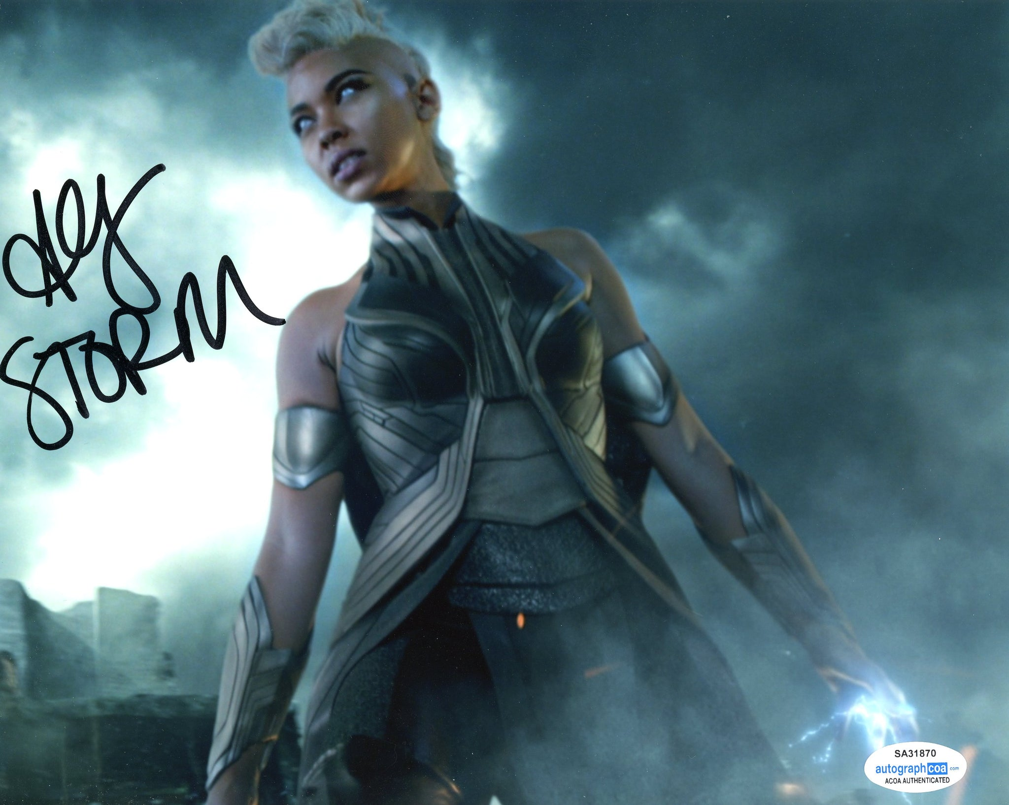 Alexandra Shipp X-Men The Storm Signed Autograph 8x10 Photo ACoA #3