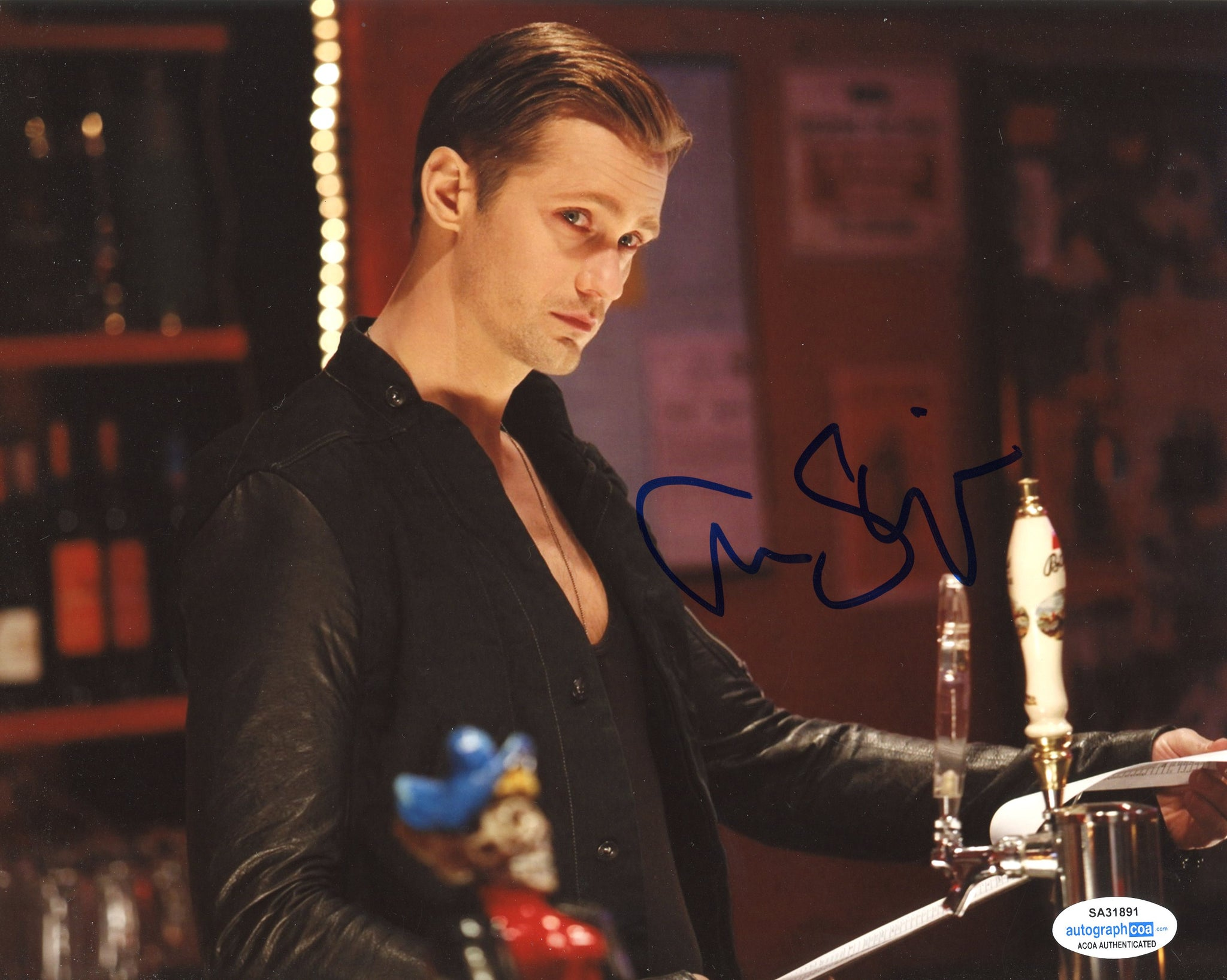 Alexander Alex Skarsgard True Blood Signed Autograph 8x10 Photo ACOA #6