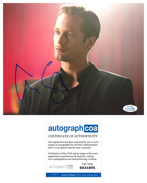 Alexander Alex Skarsgard True Blood Signed Autograph 8x10 Photo ACOA #10