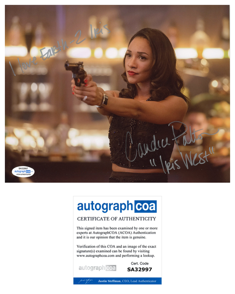 Candice Patton The Flash Sexy Signed Autograph 8x10 Photo ACOA Arrow #8 - Outlaw Hobbies Authentic Autographs