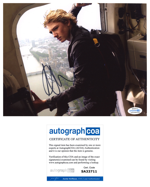 Alex Pettyfer Stormbreaker Signed Autograph 8x10 Photo ACOA
