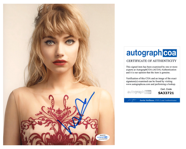 Imogen Poots Sexy Signed autograph 8x10 Photo ACOA #2
