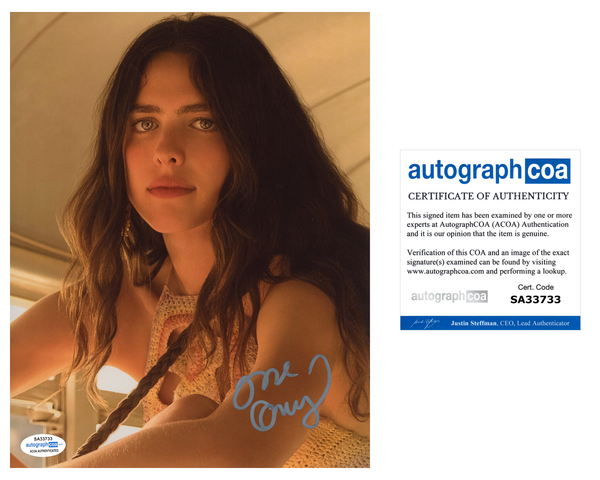 Margaret Qualley Once Upon A Time Hollywood Signed Autograph 8x10 Photo ACOA #7