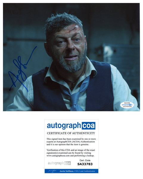 Andy Serkis Black Panther Avengers Signed Autograph 8x10 Photo ACOA #12 - Outlaw Hobbies Authentic Autographs