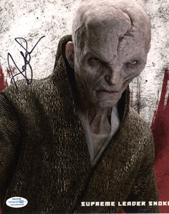 Andy Serkis Star Wars Snoke Signed Autograph 8x10 Photo ACOA #16 - Outlaw Hobbies Authentic Autographs