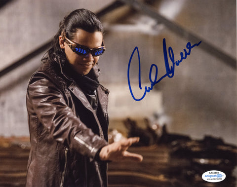 Carlos Valdes Flash Signed Autograph 8x10 Photo ACOA Arrow #3 Vibe - Outlaw Hobbies Authentic Autographs