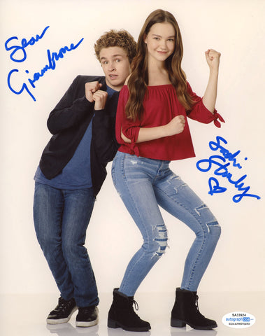 Sadie Stanley & Sean Giambrone Kim Possible Signed Autograph 8x10 Photo ACOA #2 - Outlaw Hobbies Authentic Autographs