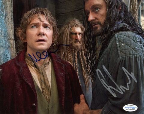 Richard Armitage Martin Freeman The Hobbit Signed Autograph 8x10 Photo ACOA - Outlaw Hobbies Authentic Autographs
