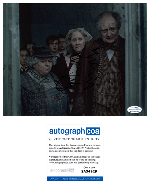 Miriam Margolyes Harry Potter Signed Autograph 8x10 Photo ACOA Sprout #2 - Outlaw Hobbies Authentic Autographs