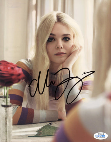 Elle Fanning Sexy Signed Autograph 8x10 Photo ACOA #7 - Outlaw Hobbies Authentic Autographs