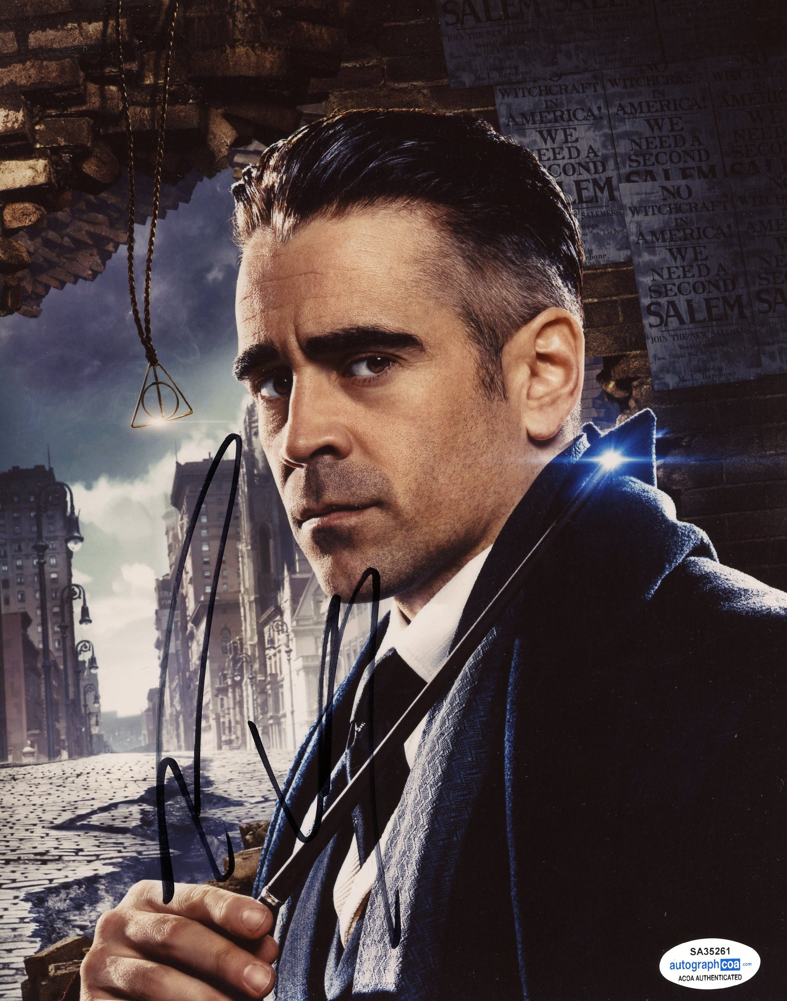Colin Farrell Fantastic Beasts Harry Potter Signed Autograph 8x10 Photo ACOA - Outlaw Hobbies Authentic Autographs