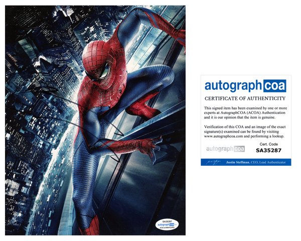Andrew Garfield Spiderman Signed Autograph 8x10 Photo ACOA #6 - Outlaw Hobbies Authentic Autographs