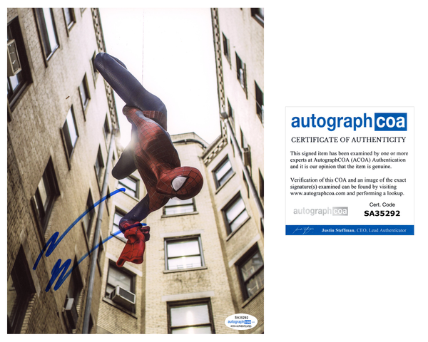 Andrew Garfield Spiderman Signed Autograph 8x10 Photo ACOA #11 - Outlaw Hobbies Authentic Autographs