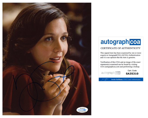 Maggie Gyllenhaal Dark Knight Signed Autograph 8x10 Photo ACOA #2 - Outlaw Hobbies Authentic Autographs