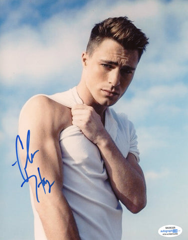 Colton Haynes Arsenal Arrow Signed Autograph 8x10 Photo ACOA #3 - Outlaw Hobbies Authentic Autographs