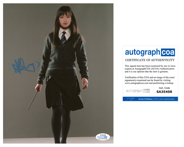 Katie Leung Harry Potter Cho Chang Signed Autograph 8x10 Photo ACOA #3 - Outlaw Hobbies Authentic Autographs