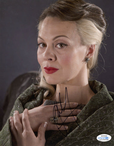 Helen McCrory Harry Potter Signed Autograph 8x10 Photo ACOA - Outlaw Hobbies Authentic Autographs