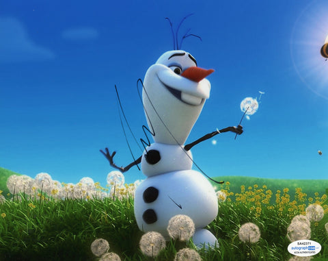 Josh Gad Olaf Frozen Signed Autograph 8x10 Photo ACOA #3