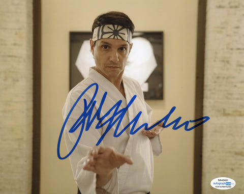 Ralph Macchio Cobra Kai Signed Autograph 8x10 Photo ACOA - Outlaw Hobbies Authentic Autographs