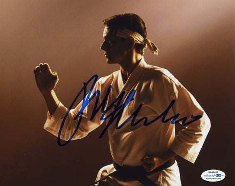 Ralph Macchio Cobra Kai Signed Autograph 8x10 Photo ACOA #5 Karate Kid - Outlaw Hobbies Authentic Autographs
