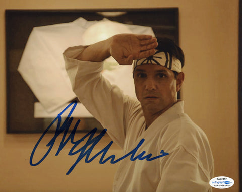 Ralph Macchio Cobra Kai Signed Autograph 8x10 Photo ACOA #7 Karate Kid - Outlaw Hobbies Authentic Autographs