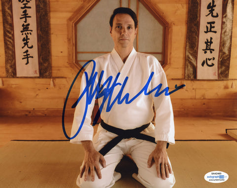 Ralph Macchio Cobra Kai Signed Autograph 8x10 Photo ACOA #10 Karate Kid - Outlaw Hobbies Authentic Autographs