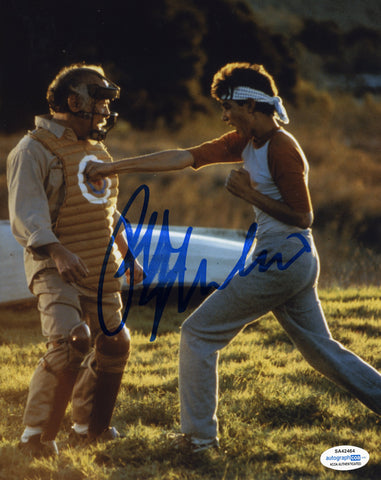 Ralph Macchio Cobra Kai Signed Autograph 8x10 Photo ACOA #14 Karate Kid - Outlaw Hobbies Authentic Autographs
