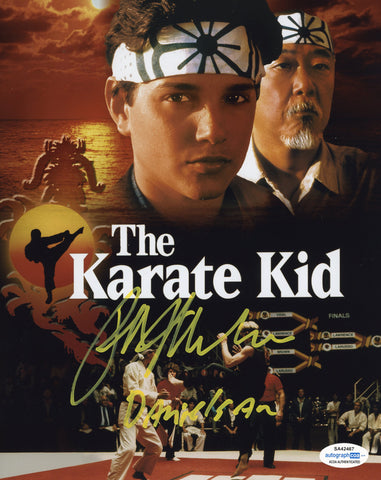 Ralph Macchio Cobra Kai Signed Autograph 8x10 Photo ACOA #17 Karate Kid - Outlaw Hobbies Authentic Autographs