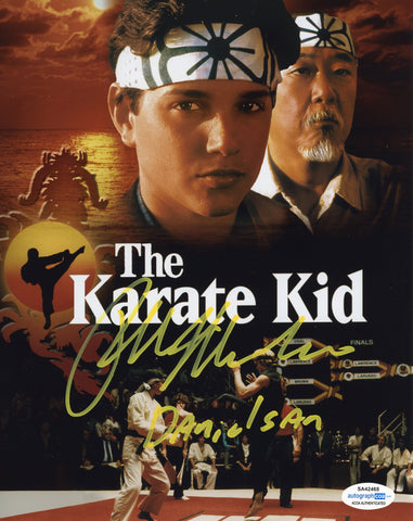 Ralph Macchio Cobra Kai Signed Autograph 8x10 Photo ACOA #18 Karate Kid - Outlaw Hobbies Authentic Autographs