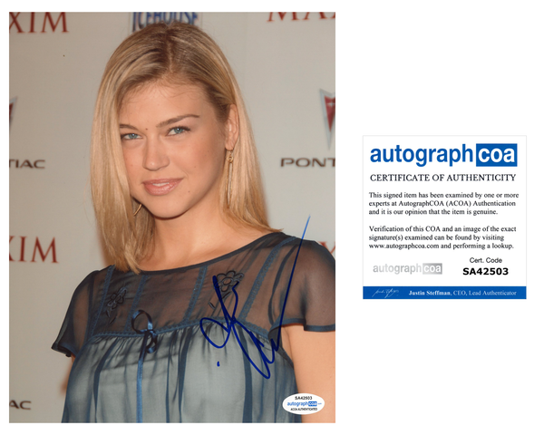Adrianne Palicki Sexy SIgned Autograph 8x10 Photo ACOA #2