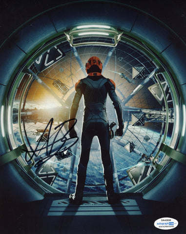 Asa Butterfield Ender's Game Signed Autograph 8x10 Photo ACOA