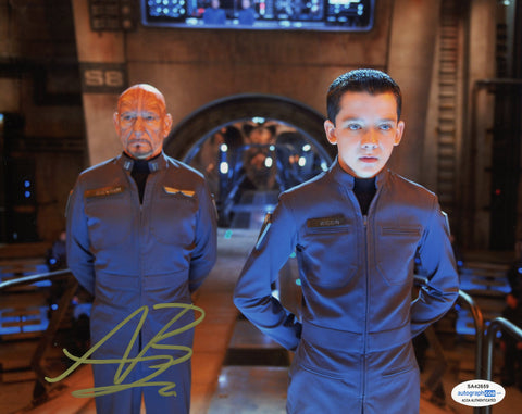 Asa Butterfield Ender's Game Signed Autograph 8x10 Photo ACOA #3