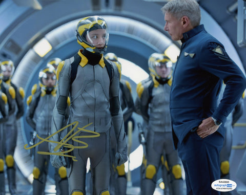 Asa Butterfield Ender's Game Signed Autograph 8x10 Photo ACOA #4