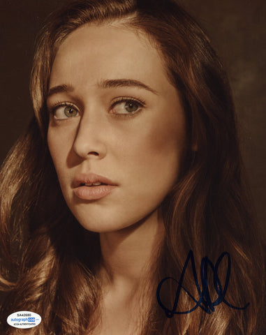 Alycia Debnam Carey Fear the Walking Dead Signed Autograph 8x10 Photo ACOA #5