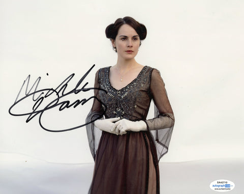 Michelle Dockery Sexy Signed Autograph 8x10 Photo ACOA Downton Abbey #4