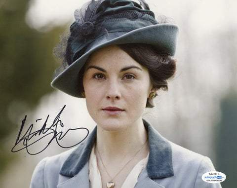 Michelle Dockery Sexy Signed Autograph 8x10 Photo ACOA Downton Abbey #5