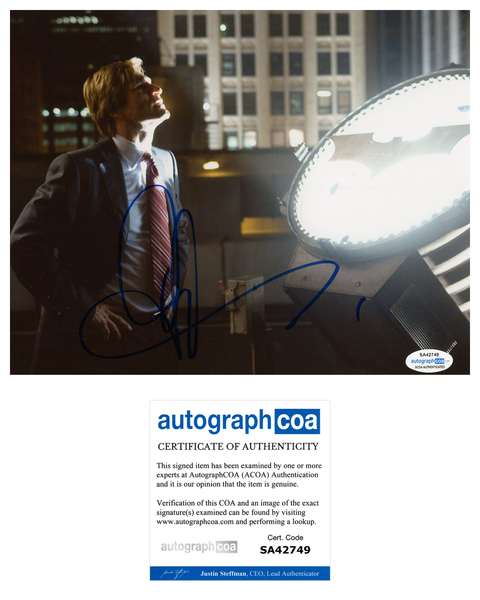 Aaron Eckhart Dark Knight Harvey Dent Signed Autograph 8 x10 Photo ACOA
