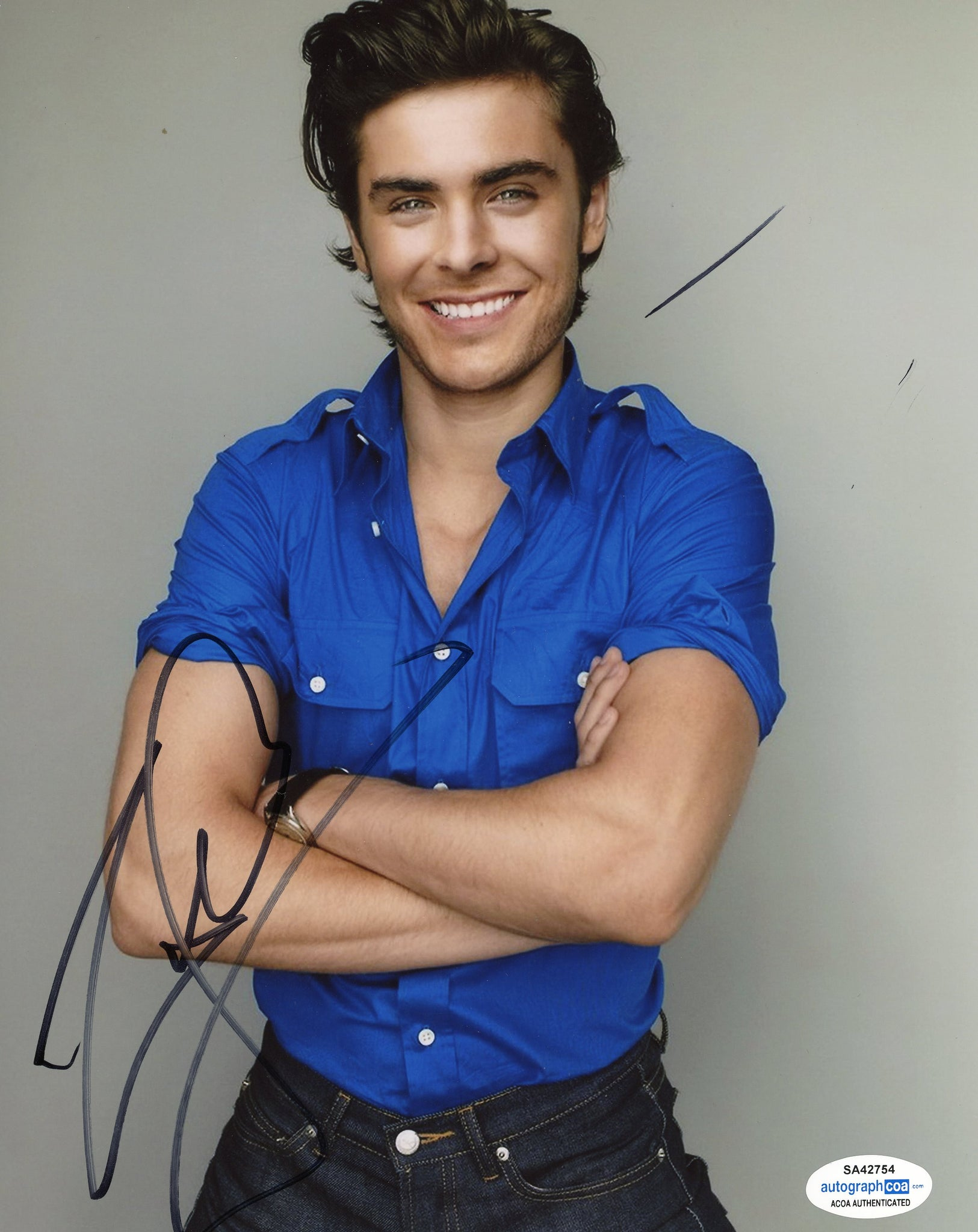 Zac Efron Hot Signed Autograph 8x10 Photo ACOA #2