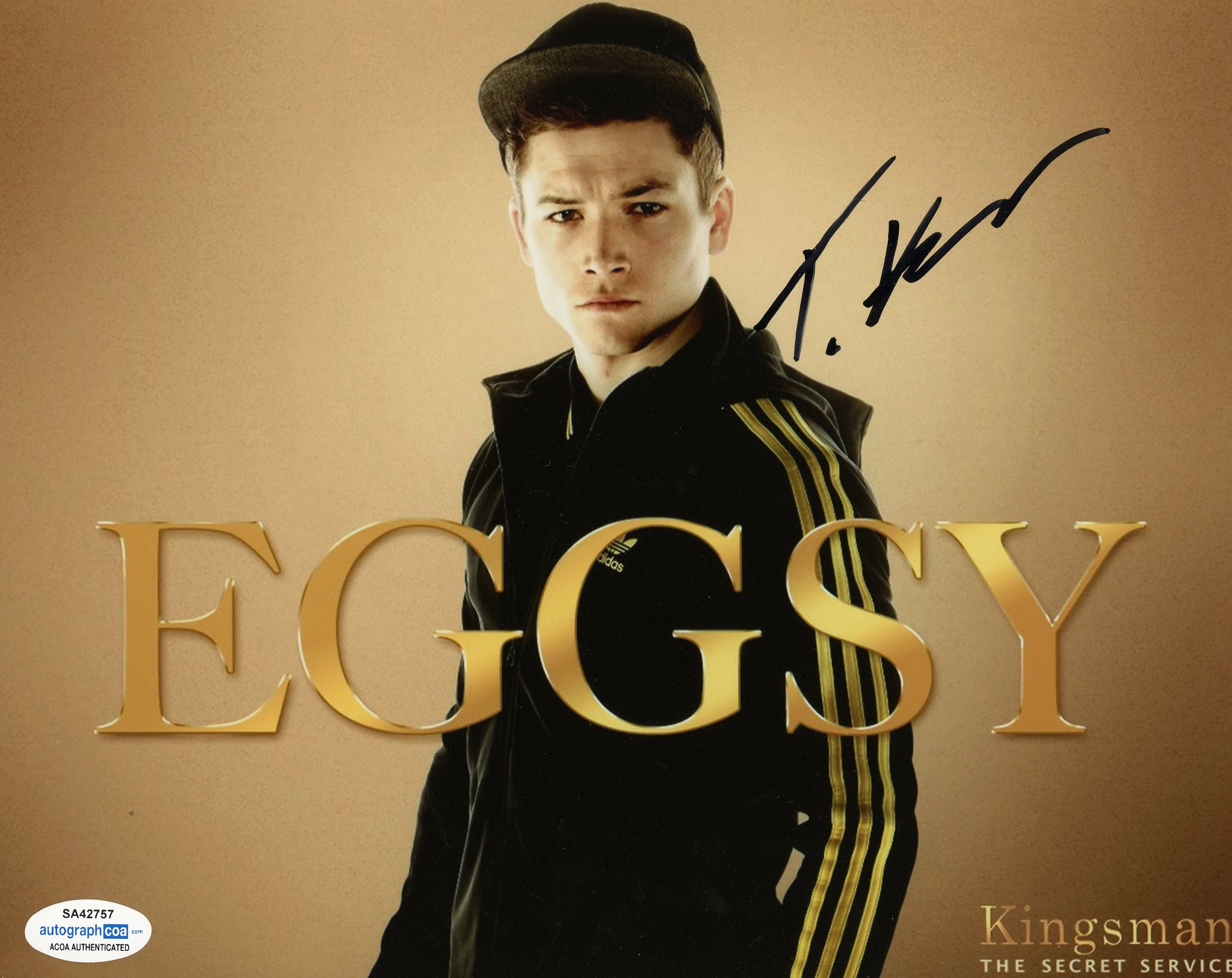 Taron Egerton Kingsman Signed Autograph 8x10 Photo ACOA #8