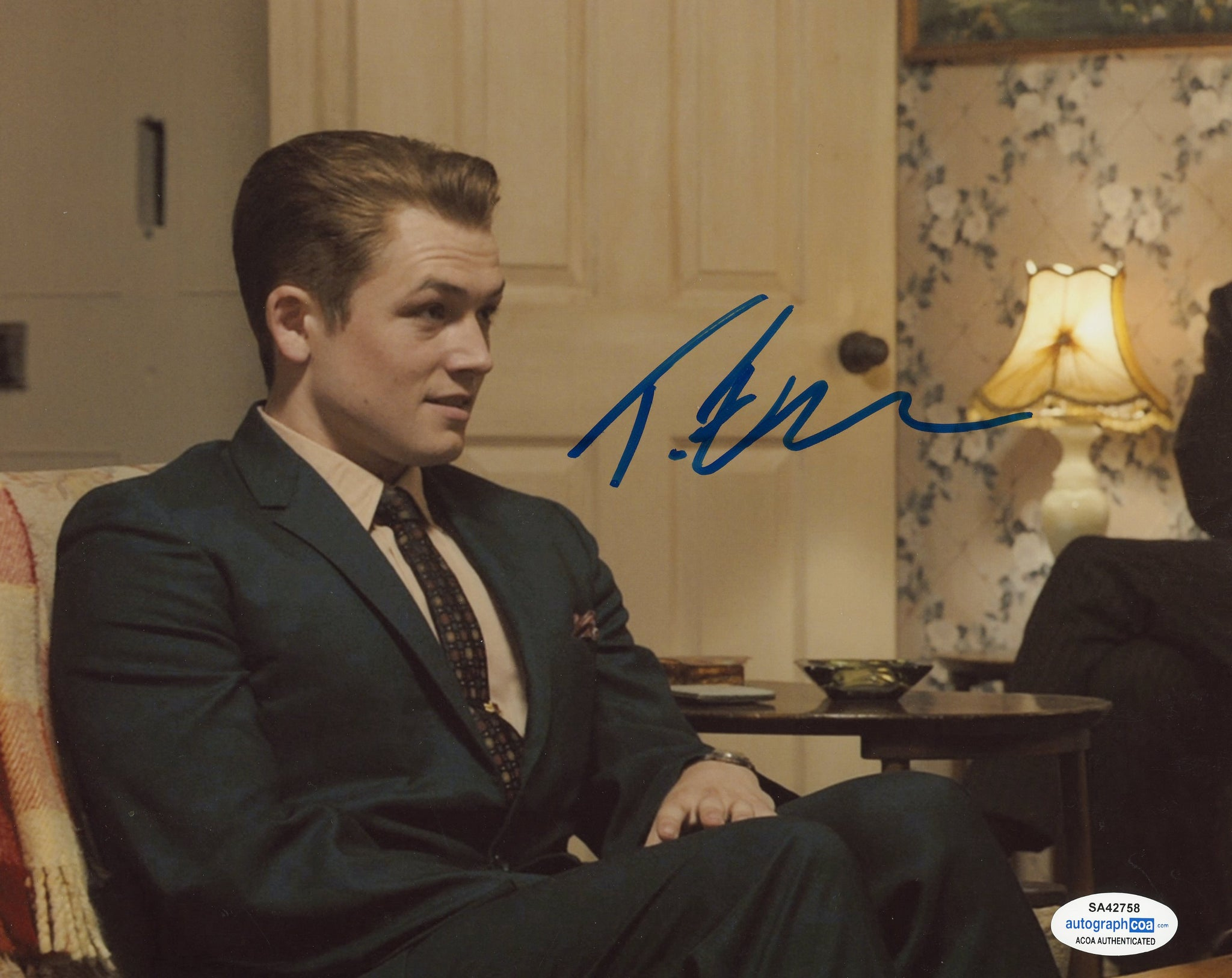 Taron Egerton Legend Signed Autograph 8x10 Photo ACOA #16
