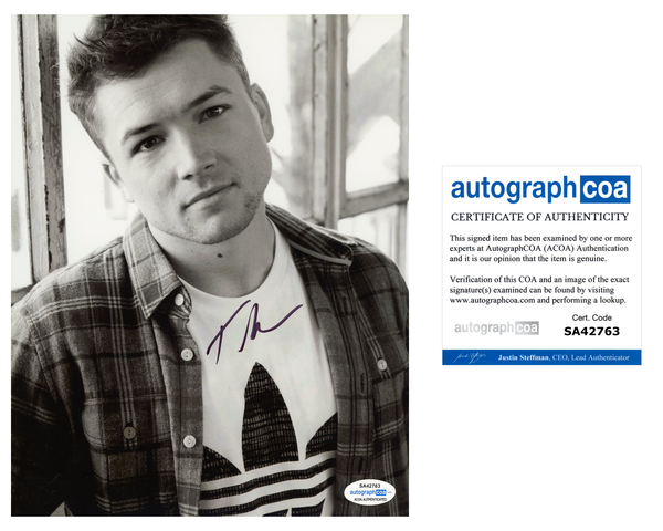 Taron Egerton Rocketman Signed Autograph 8x10 Photo ACOA #17