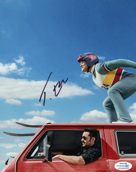 Taron Egerton Eddie the Eagle Signed Autograph 8x10 Photo ACOA #15